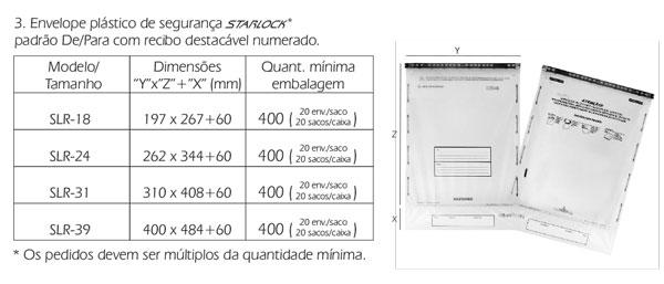 Envelopes Starlock De/Para
