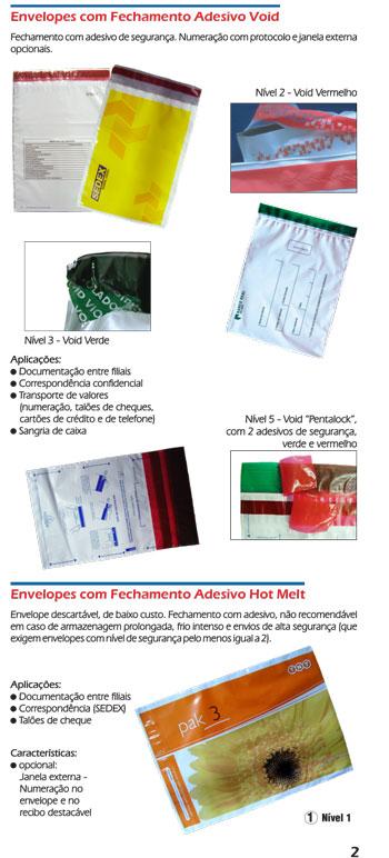 Envelopes plásticos  Void