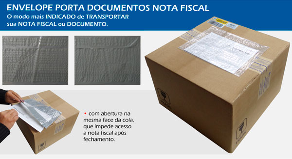 Envelope Porta Documentos e Nota Fiscal