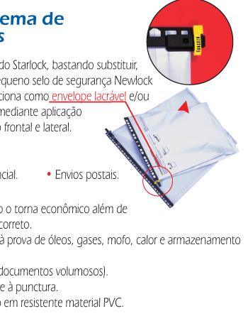 Envelope Reutilizável e Sistema de Arquivamento Starlock Plus