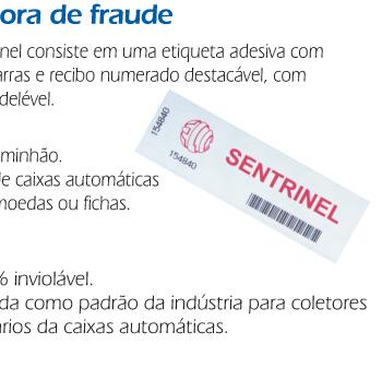 Sentrinel etiqueta evidenciadora de fraude
