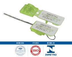 Lacres plásticos de segurança com arame Minifastlock