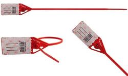 Lacres plásticos com rabicho e clip metálico Clipinlock