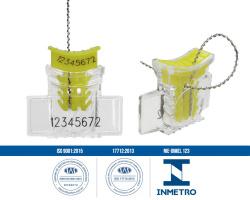Lacres plásticos tipo âncora com numeração interna alock