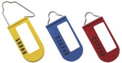 Lacres plásticos de segurança com fio metálico Padlock