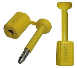 Lacres metálicos numerados com cabo barreira e semibarreira