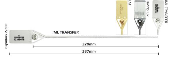 Lacres plásticos com clip metálico Clipinlock 2-300