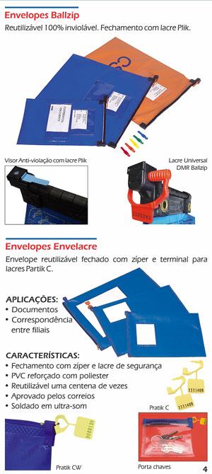 Envelopes Reutilizáveis Ballzip e Envelacre
