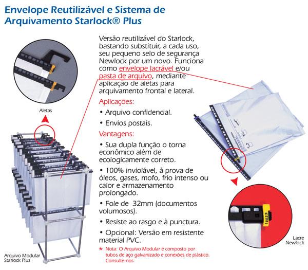 Envelopes Reutilizáveis Starlock Plus
